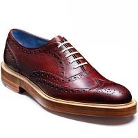 Barker Shoes - Mills - Oxford Brogue - Cherry Grain