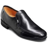 Barker Shoes - George - Moccasin Loafer - Black Nappa