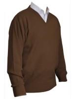 Franco Ponti V-Neck Sweater - Brown