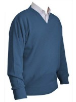 Franco Ponti V-Neck Sweater - Denim