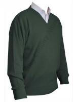Franco Ponti V-Neck Sweater - Fern