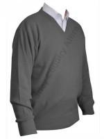 Franco Ponti V-Neck Sweater - Grey