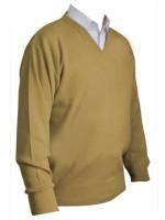 Franco Ponti V-Neck Sweater - Honey