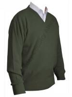 Franco Ponti V-Neck Sweater - Moss