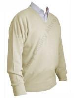 Franco Ponti V-Neck Sweater - Oatmeal