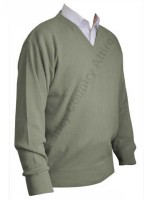 Franco Ponti V-Neck Sweater - Sage
