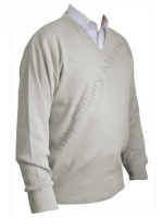 Franco Ponti V-Neck Sweater - Shadow