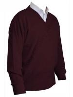 Franco Ponti V-Neck Sweater - Wine