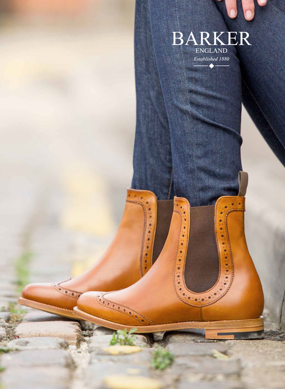 Get The Look Ladies Chelsea Brogue Boots From Barker