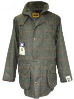Hucklecote Dartmoor Waterproof Shooting Jacket - Green Check Tweed - 823