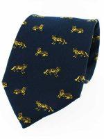 Soprano - Navy Fox Country Silk Tie
