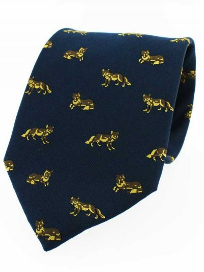 Soprano - Navy Fox Country Silk Tie