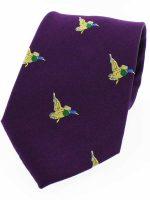 Soprano - Purple Flying Ducks Silk Country Tie