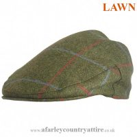 Alan Paine - Chatham Gents Cap - Lawn Green Tweed