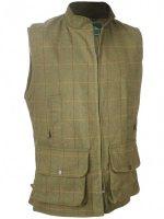 Alan Paine - Rutland Tweed Shooting Waistcoat - Forest Green