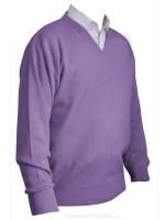 Franco Ponti V-Neck Sweater - Lilac