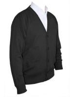 Franco Ponti Cardigan - Merino Wool Blend K05 - Charcoal