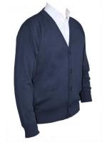 Franco Ponti Cardigan - Merino Wool Blend K05 - Dark Denim