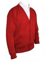 Franco Ponti Cardigan - Merino Wool Blend K05 - Red