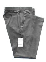 Meyer Mid-Grey Tropical Wool-Mix Trousers - Roma 344