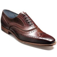 Barker Shoes - McClean Brogue - Brown Calf & Snuff Suede