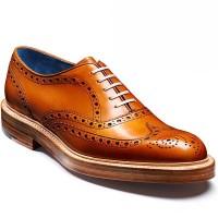 Barker Shoes - Mills - Oxford Brogue - Cedar Calf