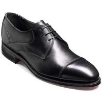 Barker Shoes - Ramsey - Derby Wide Fit - Black Fine Grain