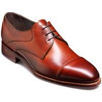 Barker Shoes - Ramsey - Derby Wide Fit - Rosewood Fine Grain