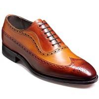 Barker Shoes - Rochester - Two Tone - Rosewood Calf & Cedar Grain