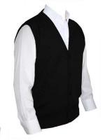 Franco Ponti Sleeveless Cardigan - Gilet - Merino Blend K06 - Black