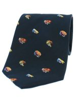 Soprano - Navy Fly Fishing Woven Silk Country Tie