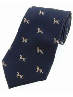 Soprano - Navy Pointer Dogs Woven Silk Country Tie