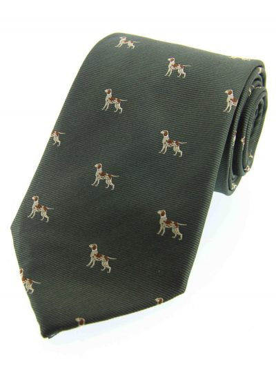 Soprano - Red Pointer Dogs Woven Silk Country Tie