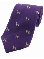 Soprano - Purple Pointer Dogs Woven Silk Country Tie
