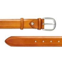 Barker Shoes Plain Belt - Cedar Calf Leather - One size
