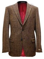 NEW - Magee Men's Jacket - Brown Donegal Tweed