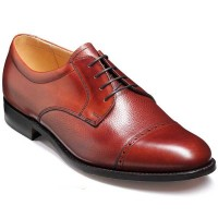 Barker Flex Shoes - Staines - Rosewood Calf & Grain