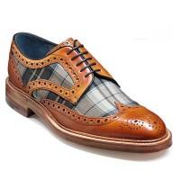 Barker Shoes - Blair - Country Brogue - Cedar Calf / Fabric