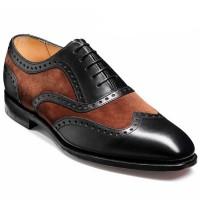 Barker Shoes - Cambridge - Black Calf & Castagnia Suede