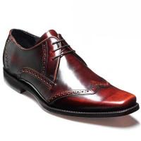 Barker Shoes - Drake - Square Toe - Brandy Hi-Shine