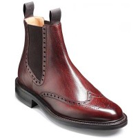 Barker Shoes - Thirsk - Chelsea Brogue Boots - Cherry Grain
