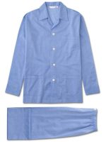 Derek Rose - Amalfi 1 Pure Cotton Batiste Pyjamas - Blue