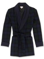Derek Rose - Black Watch Tartan Wool Smoking Jacket