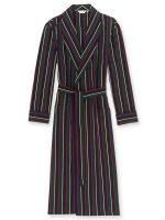 Derek Rose - Regimental ASH Cotton Stripe Dressing Gown