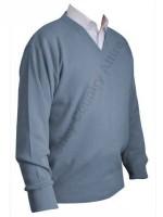 Franco Ponti V-Neck Sweater - Azure