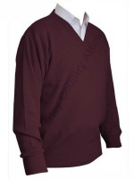 Franco Ponti V-Neck Sweater - Damson