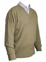 Franco Ponti V-Neck Sweater - Fawn