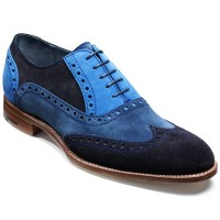 NEW!!! Barker Shoes - Grant - Blue Combi Suede Full Brogue