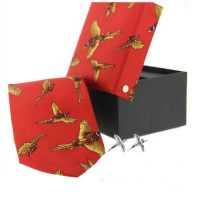 Soprano - Tie & Cufflink Gift Set - Red Flying Pheasant