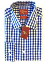 RM Williams - Forster Gingham Shirt - Blue & White